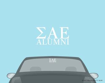 SAE Sigma Alpha Epsilon Fraternity Alumni Decal Sticker