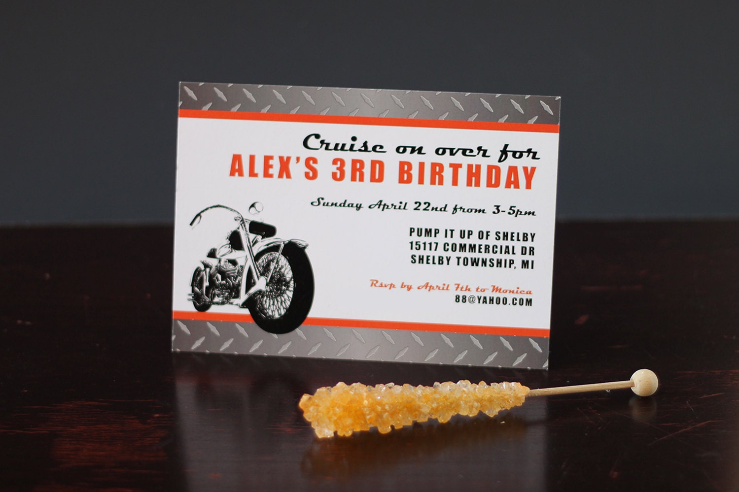 Motorcycle Invitation INSTANT DOWNLOAD Printable Motorcycle