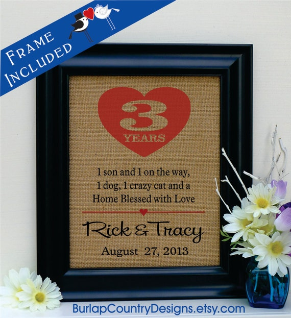 3rd Wedding Anniversary Gift: Items Similar To 3rd Anniversary Gift, 3rd Wedding