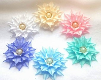 6-Pack Pointed Flower Hair Clips