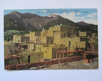 Vintage Postcard-Pueblo De Taos