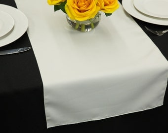White Polyester Table Runner | Wedding Table Runners