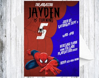 Spiderman Invitation - DIGITAL