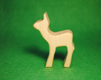Wood baby deer - Wooden Toy - Wooden baby deer - baby deer Toy - Wood Toy - Organic Toys - Toy Animals - Waldorf Toy - Wooden Animals