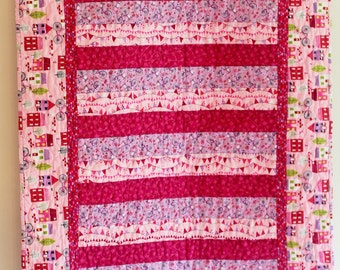 Shades of Pink Baby or Toddler Quilt