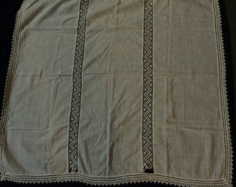 Vintage 1960's Table Cloth, Table Runner, Dollie, Scrap Use