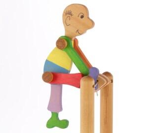 Wooden Acrobat Toy - Folk Toy