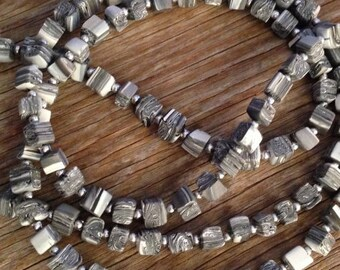 Greyscale - Long Statement Necklace