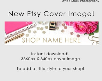Etsy Cover Photo / Etsy Cover Image / Premade Etsy Banner / Premade Cover Photo / Shop Banner / Cover Image / Stock Photo / Style-104