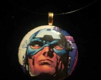 Marvel Captain America Avengers Pendant
