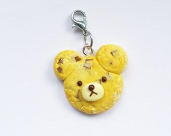 Polymer Clay Chocolate Chip Cookie Bear Charm
