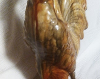 Vintage large Amber Rooser figurine, statue, farm, country decor
