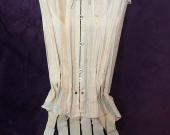 Antique Edwardian Corset with Garter Stayups c. 1907 - 1910
