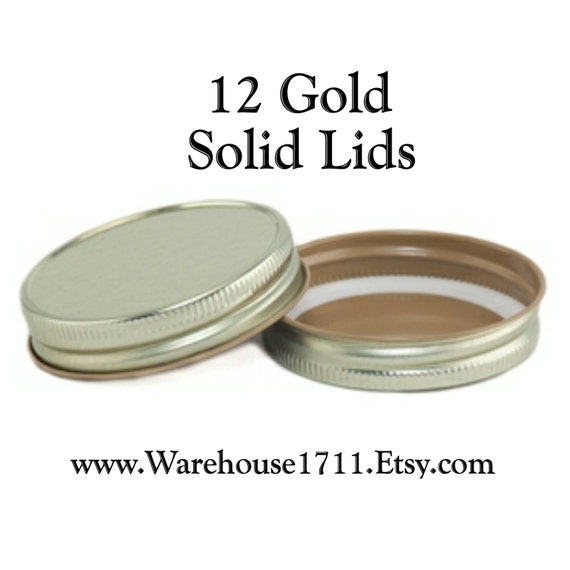 mason jar lids 12 solid lids goldparty jar lids