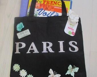 """French """"Paris"""" Tote Bag"""