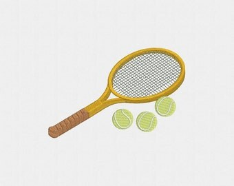 Tennis Racket Machine Embroidery Design - 1 Size