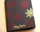 Handmade Christmas Card Set of Ten - Embossed - Snowflake Merry Christmas - Snowflakes