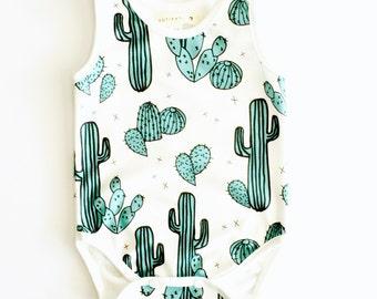 Baby clothes, organic bodysuits, organic cotton bodysuits, baby boy summer clothes, baby girls clothes, baby clothes,cactus print