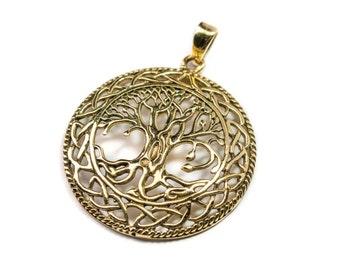 Tree of Life Circle Pendant On Cord Adjustable Necklace Spiritual jewellery Yogi Jewellery  Handmade Free UK delivery + Gift Bag CH2