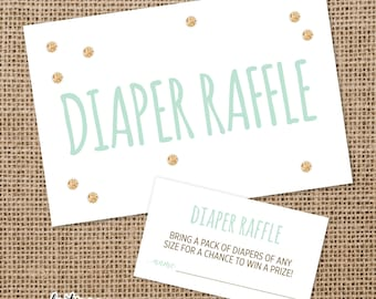 Diaper Raffle Set for Baby Shower