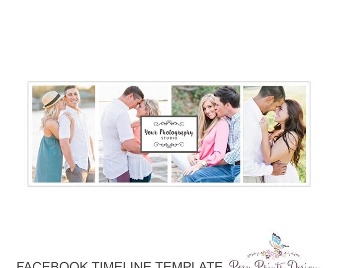 Facebook Timeline Cover Photoshop Template - FBT06