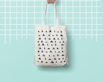 Tote bag, Canvas Tote Designer Geometry Hipster Teacher Grocery Market Gym, Cotton bag, sports bag, yoga bag, baby bag, school bag