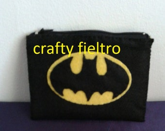 Batman coin purse, batman felt coin purse, felt coin purse, coin purse
