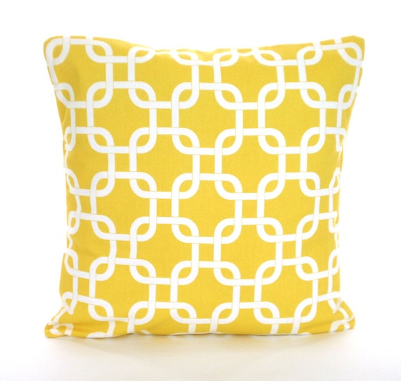 Yellow Decorative Bed Pillows : Yellow Decorative Throw Pillow Covers Cushions Corn Yellow