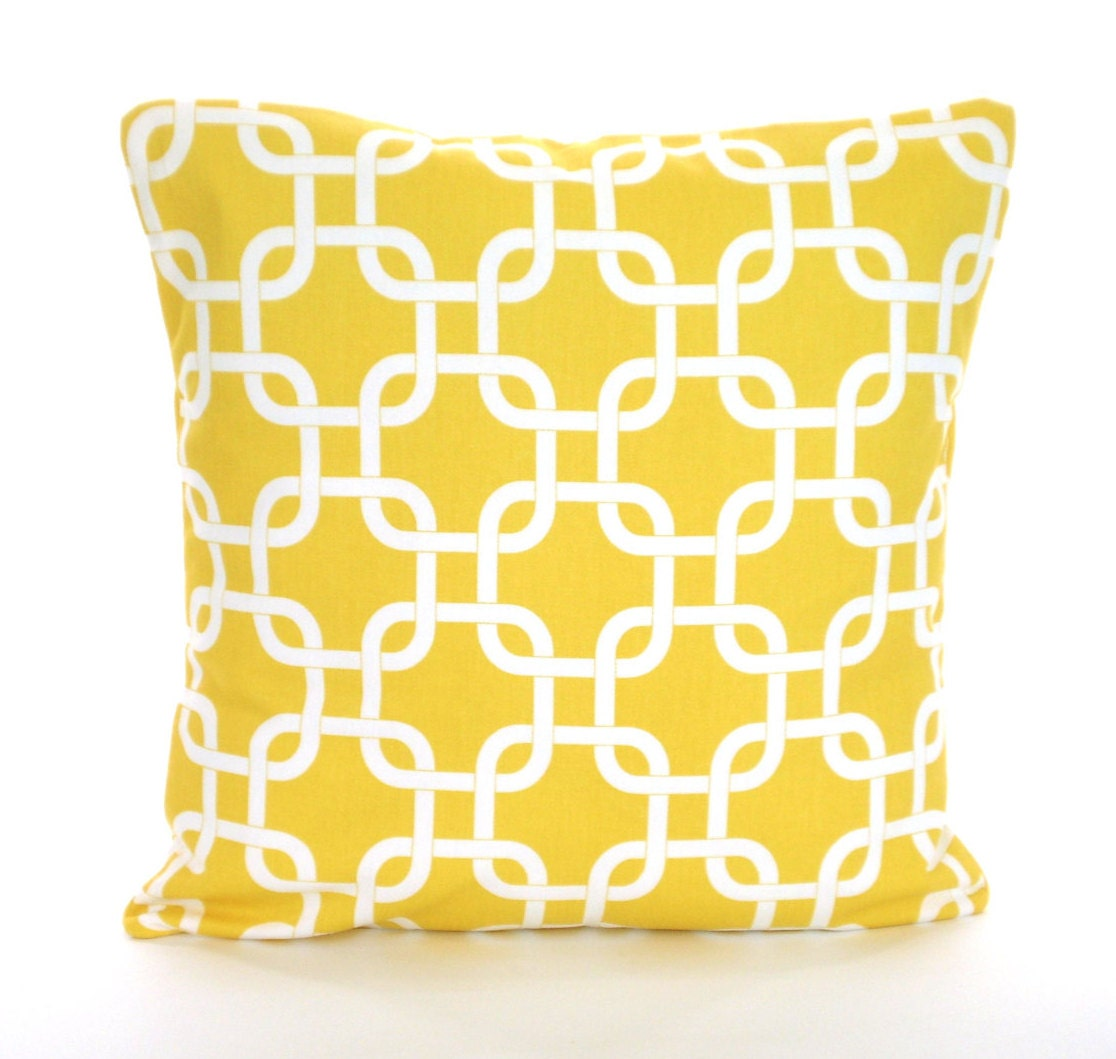 Yellow Decorative Pillows For Sofa : Yellow Decorative Throw Pillow Covers Cushions Corn Yellow