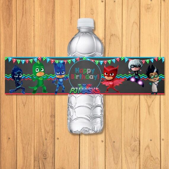 Pj Masks Drink Label Chalkboard * Pj Masks Water Bottle Wrap * Pj Masks Party Printables * Pj Masks Birthday * Pj Masks Party Favors