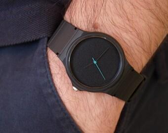 Custom Casio Colorful Seconds Hand - unisex watch - men's watch - women watches - minimalist watch - black matte dial - watches - watch