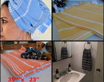 2 pcs  Black Peshkir,Hand Towels,Head Towels,Turkish Hand Towel, Hand Towel, Tea Towel, Kitchen Towel, Baby Towel, Cotton turkish towel