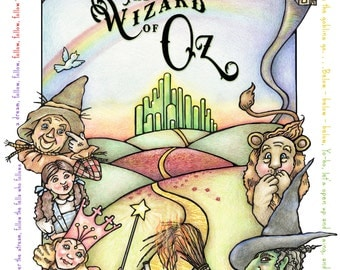 Wizard of OZ Original Art Print