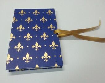 Golden field blue Orris notebook A6