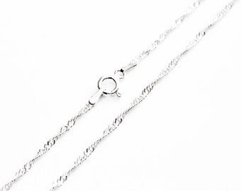 Twist Chain, Sterling Silver Chain, Necklace Chain, Pendant Necklace, Pendant Chain, 925 Sterling Silver, 18 Inch Chain, Standard Chain