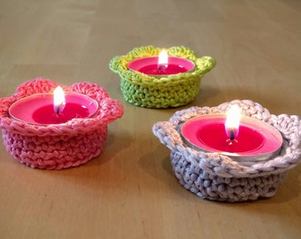 FLOWER candle holder CROCHET PATTERN