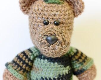 Military Teddy Bear - Army Gifts - Crochet Animals - Amigurumi Animals - Crochet Toys - Amigurumi Bear - Military Plush Toy - Amigurumi Toys
