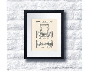 Military Vintage Willys Jeep Patent Print #9 1949 Vehicle spring suspended half-axle, vintage jeep decor, military gift idea, US Army Gift