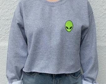 Acid Alien Crop Top sweater, grunge, indie, hipster tumblr