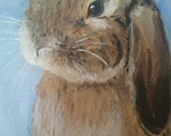 custom oil painting pet portrait