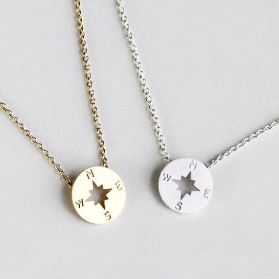 compass necklace gift graduation friendship