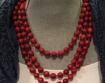 "62"" Red Jasper Necklace"