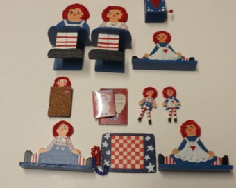 Raggedy Ann and Andy Vintage Doll Furniture