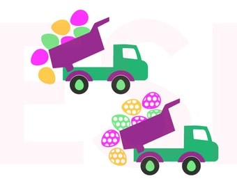 Easter Truck svg, SVG, DXF, EPS,  cutting files, for use with Silhouette Cameo and Cricut Explore. Truck svg, Easter svg designs,