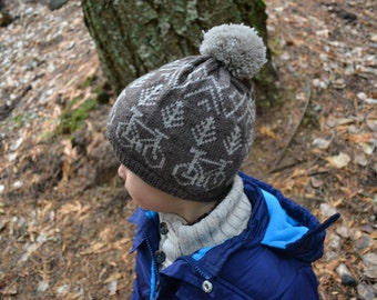 Child Hat with Bicycles