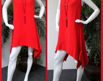 ComfyPlus Designer Lagenlook Cotton Gauze Sleeveless Tunic.Large to 4XL