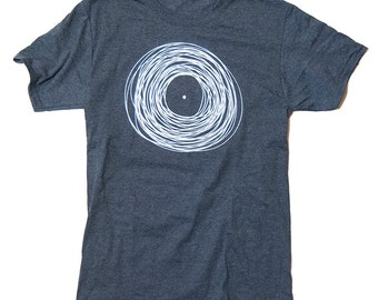Mens VINYL RECORD T Shirt - Available in S M L XL