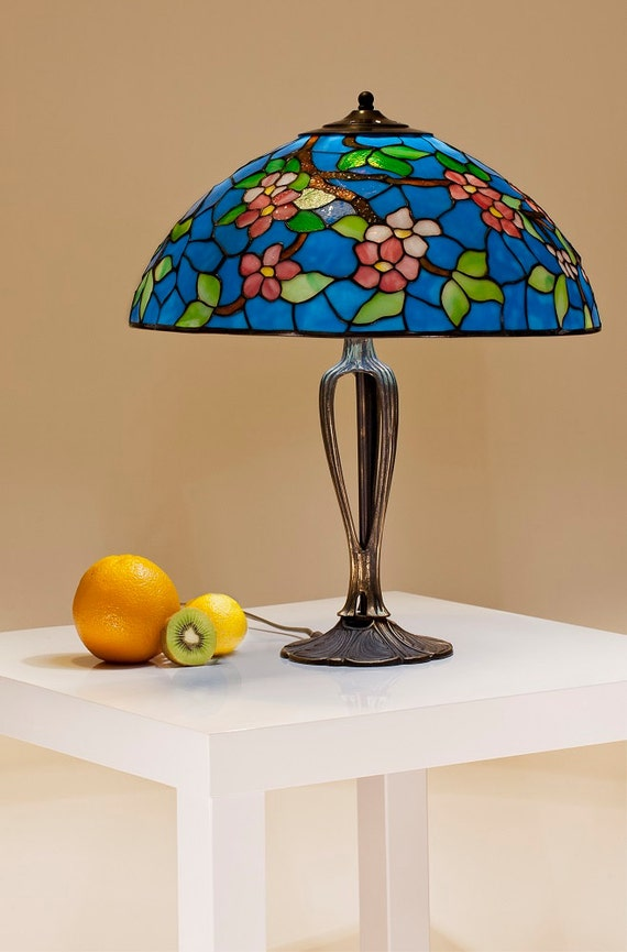 Stained Glass Fusion, Table Lamp, Desk Lamp, Tiffany Lamp, Stained Glass Lamp, Stained Glass Shade, Stained Glass Decor, Home Decor, Lamp