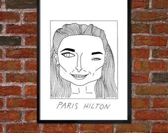 Badly Drawn Paris Hilton - Poster