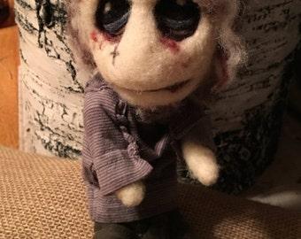 Needle felt zombie doll